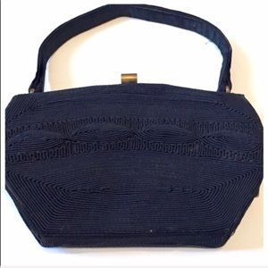 Vintage Genuine Corde Handbag, Black